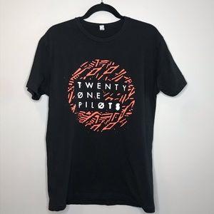Twenty One Pilots band black graphic tee sz M
